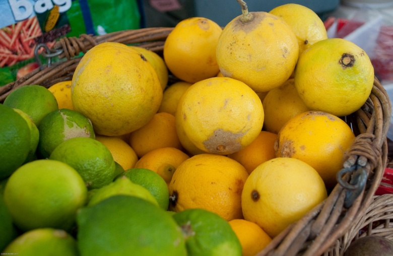Bergamot and lime fruits