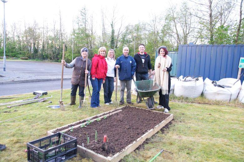 Ciaran and the teachers, teacher training Workshop, Castlebar, Co. Mayo, Ireland