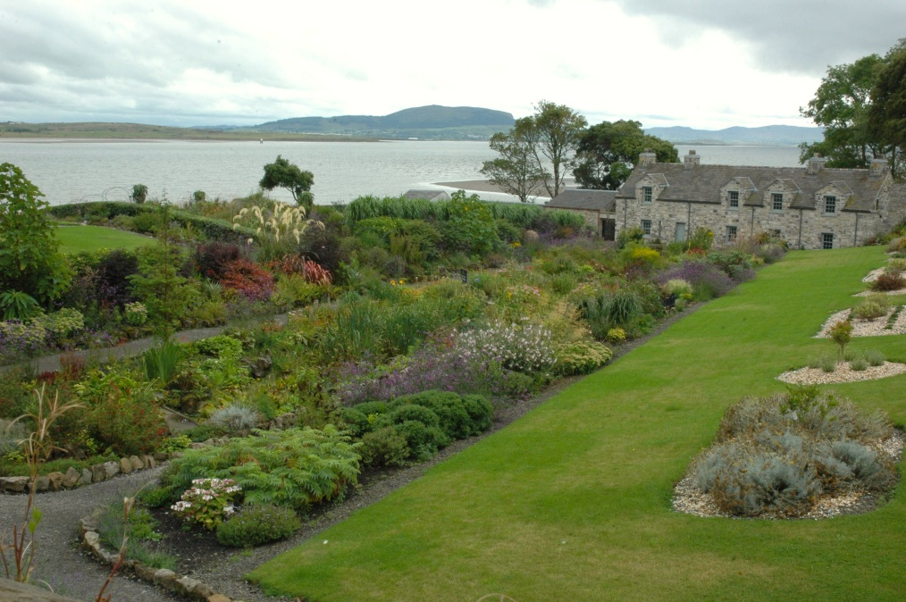 Walled Garden- Lissadell House with view of bay, Co. Sligo, Ireland