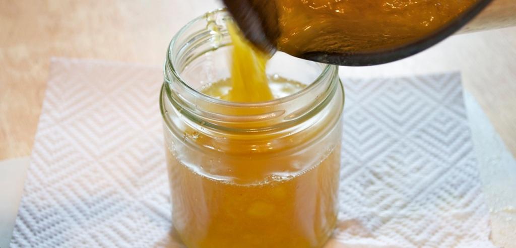 pouring Jam into a jar