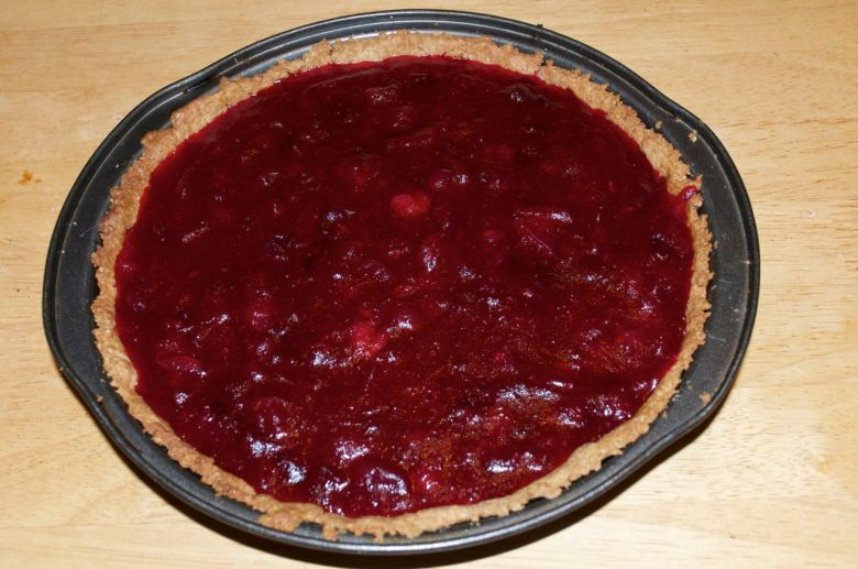 Cranberry and orange tart