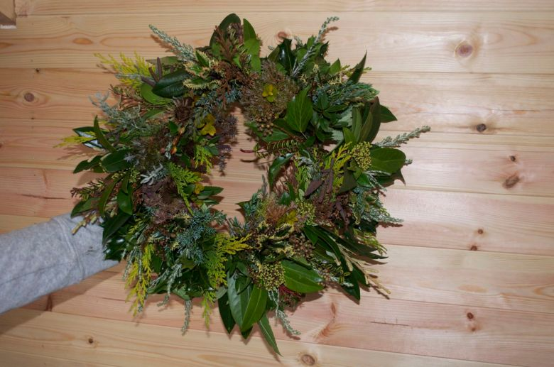 A finished wreath