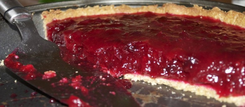 Cranberry and orange tart
