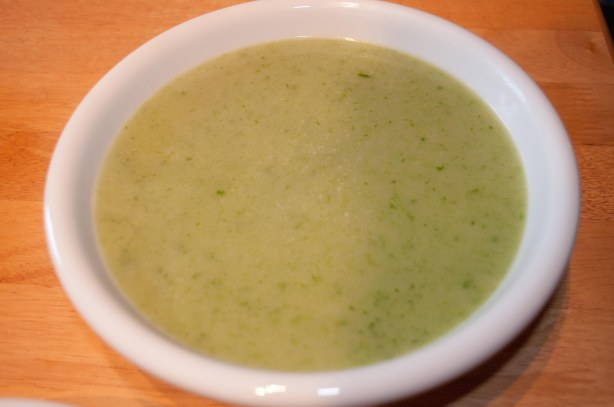 Chickweed soup... chickweed has its own unique flavour...surprisingly delicious